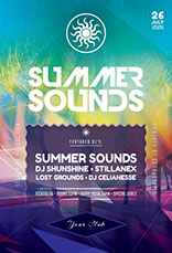 Summer Sounds Flyer Template