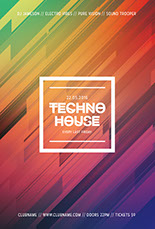 Techno House Flyer Template