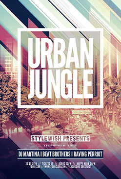Urban Jungle Flyer Template