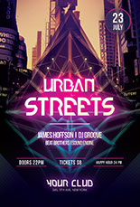 Urban Streets Party Flyer
