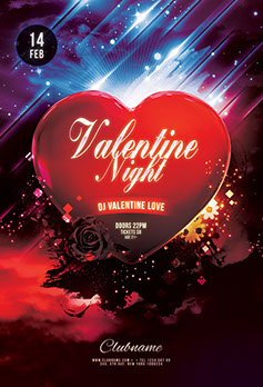 Valentine Night Flyer Template