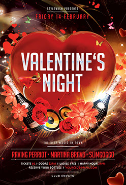 Valentine's Night Party Flyer