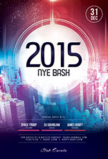2015 NYE Bash Flyer Template