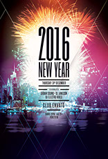 2017 New Year Flyer Template