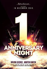 Anniversary Night Party Flyer