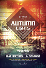 Autumn Lights Flyer Template