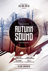 Autumn Sound Flyer Template