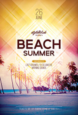 Beach Summer Poster Design