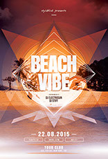 Beach Vibe Flyer Template