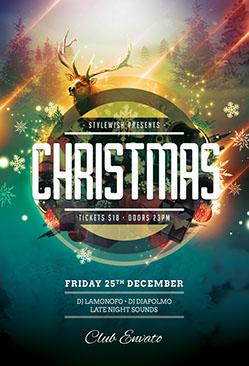 Christmas Flyers.Christmas Xmas Flyer Templates Psd Design