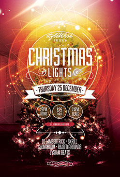 Christmas Lights Flyer Template