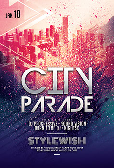 City Parade Party Flyer Template