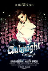 Clubnight Fridays Party Flyer