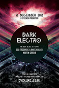 Dark Electro Party Flyer Template