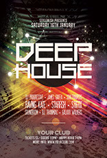 Deep House Party Flyer Template
