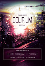 Delirium Flyer Template