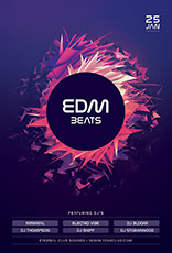 EDM Beats Poster Design