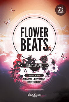 Flower Beats Poster Design