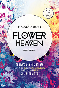 Flower Heaven Party Flyer