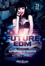 Future EDM Flyer Template