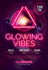 Glowing Vibes Party Flyer