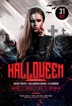 Halloween Flyer Templates - PSD Design