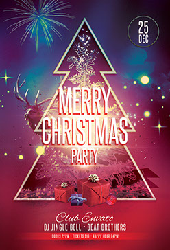 Merry Christmas Poster Design