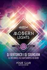 Modern Lights Flyer Template