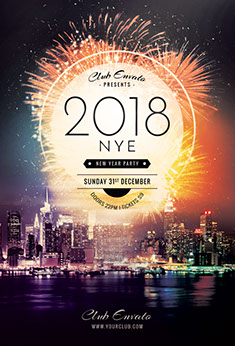 new year flyer new year flyer template