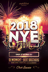 new year nye flyer templates psd design