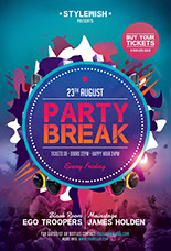 Party Break Party Flyer