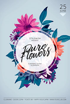 Pure Flowers Poster Design