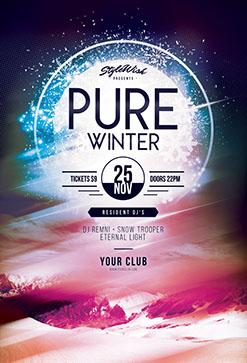 winter flyer templates psd design
