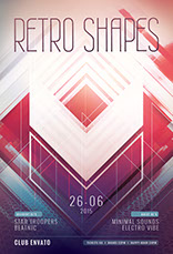 Retro Shapes Flyer Template
