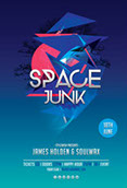 Space Junk Party Flyer
