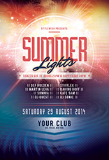 Summer Lights Flyer Template