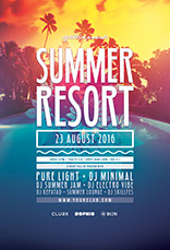 Summer Resort Poster Design