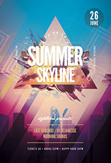Summer Skyline Flyer Template