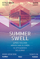 Summer Swell Party Flyer