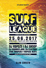 Surf League Poster Design