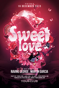 Sweet Love Party Flyer