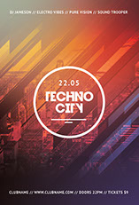 Techno City Flyer Template