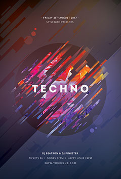flyers techno