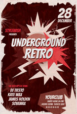 Underground Retro Party Flyer