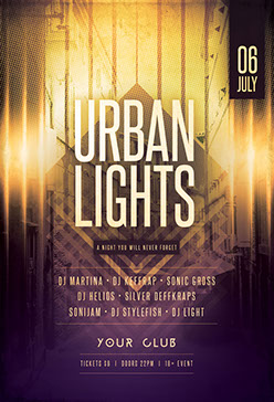 Urban Lights Flyer Template