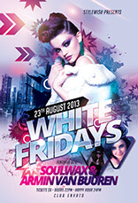 White Fridays Party Flyer