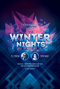 Winter Nights Party Flyer Template